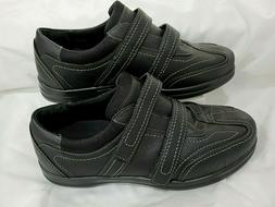 Apex A740W Loafers Women Shoes Black Leather Diabetic 9.5 X