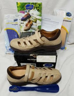 Dr. Comfort Breeze Womens Sandals Shoes 10.5N Leather Orthop
