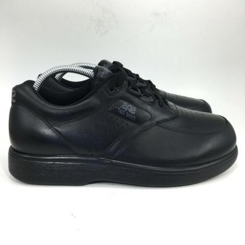 SAS Out Mens Black Leather Comfort Shoe WWW Wide
