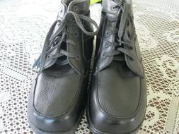 MEN'S ORTHOFEET DIABETIC  BLACK SIZE 11 ANKLE LENGTH BOOTS