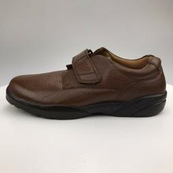 Mens 13 Wide Dr Comfort William Brown Leather Diabetic Comfo