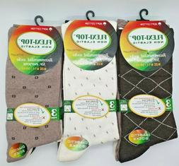 Mens Flexi-Top Non Elastic Diabetic Soft Cotton Blend Socks