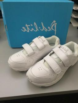 Mens Shoes Size 11 Wide White Sneaker Hook And Loop Closire