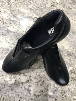 NEW DREW Womens Black Leather Orthopedic Diabetic Slip On Na