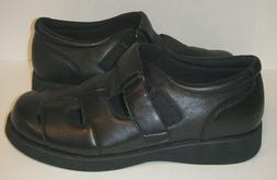 Propet Black PedWalker Diabetic Sandal Shoes NWOB Shock Abso