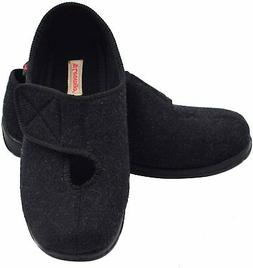W&Lesvago Wide Width Diabetic Slippers, Easy On Off Closure