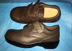 WOMENS APEX SHOES LEATHER 7.5 XW CASUAL WALKING COMFORT STRA